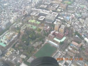 東京大学上空
