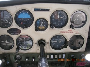 Cruising in the cockpit.