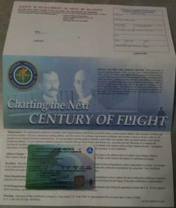 Re-newed Pilot Certificate